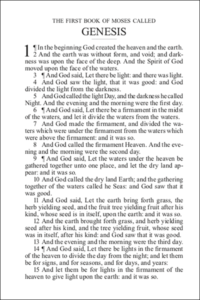 Sample page from Sunlight Bibles Individual Bible Book of Genesis